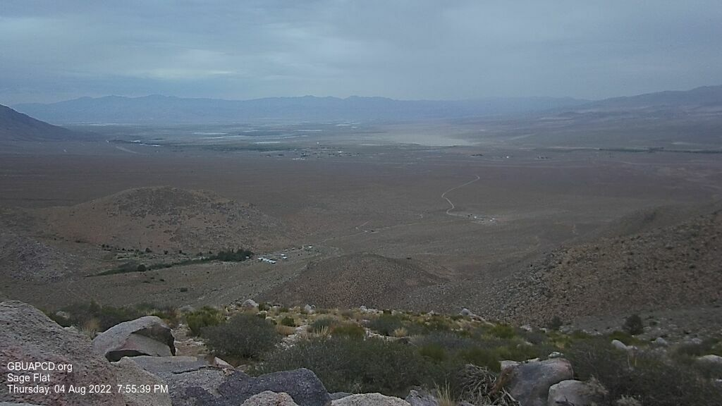 Live view looking NE from Sage Flat south of Olancha, down the Sierra and toward the Inyo Range